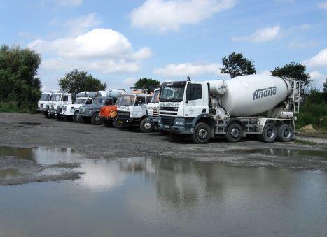 Výroba betonu, rozvoz domíchávači, Andrla CZ s.r.o. Opava
