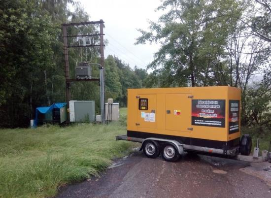 Půjčovna a pronájem elektrocentrál a dieselagregátů