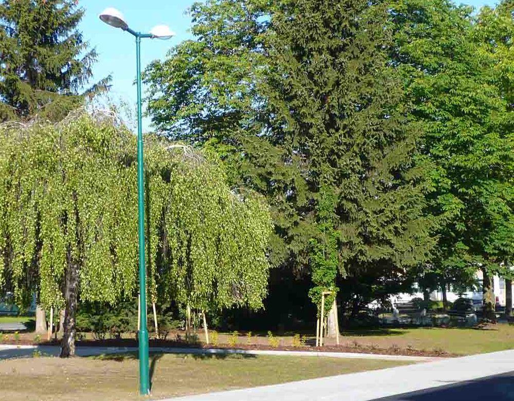 Instalace veřejného osvětlení, stožáry sadové i silniční