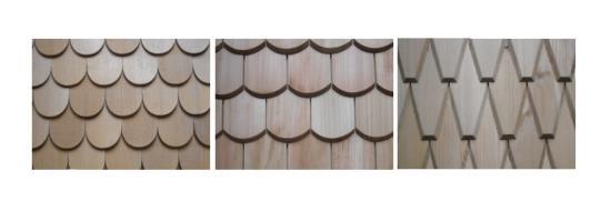 Šindele různých tvarů i délky, Okna Bastl