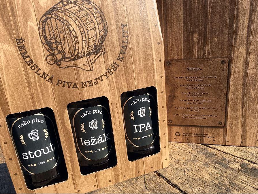 Pivo v obalech od firmy Pack Shop Opava