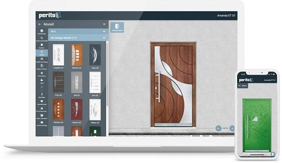 Vizualizace výběru dveří - konfigurátor PERITO