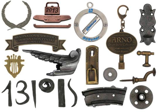 Výroba odznaků, upomínkové, originální, kovové, barevné mince, štítky, zinkové odlitky na zakázku