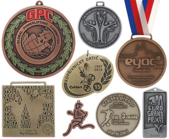 Upomínkové, originální, kovové, barevné mince, štítky, zinkové odlitky na zakázku, výroba