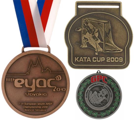 Výroba medailí, sportovní medaile na přání, zakázku, prodej