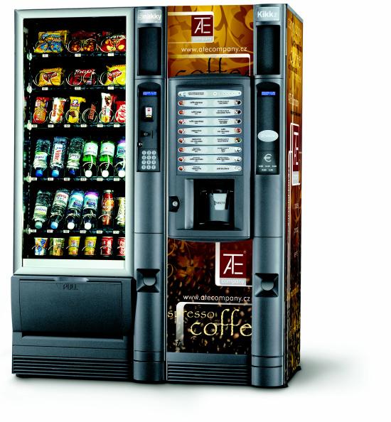 ATE company s.r.o., Olomouc, nápojové automaty, prodejní automaty, automaty na teplé a studené nápoje, balené potraviny
