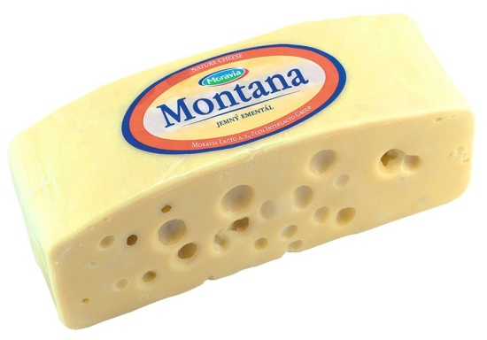 Dom�c� kvalitn� s�r Montana � jemn� ement�l ohrom� chu�ov� bu�ky