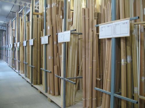 Spousty tvarů a barev dřevěných lišt