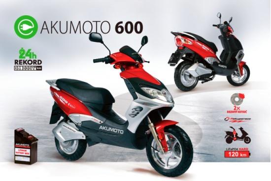 Elektroskútry AKUMOTO 600 - KLAS, opravárensko výrobní družstvo, autoservis