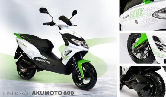 Elektroskútry AKUMOTO 600 - KLAS, opravárensko výrobní družstvo, autocentrum