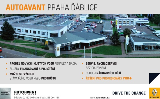 Autoavant nab�z� nov� i ojet� vozy Renault a Dacia, n�hradn� d�ly i odborn� servis (Praha)