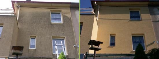 Čištění fasád, střech a zámkové dlažby vede nejen ke zvýšení estetické hodnoty