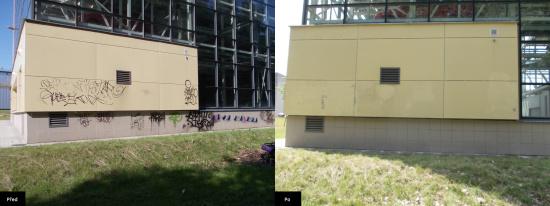 Čištění fasády, Ostrava