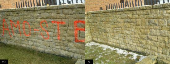 Odstraňování graffiti, SK Fasády s.r.o.