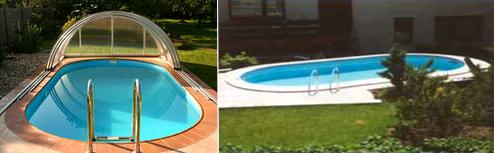 bazény všech tvarů a velikostí