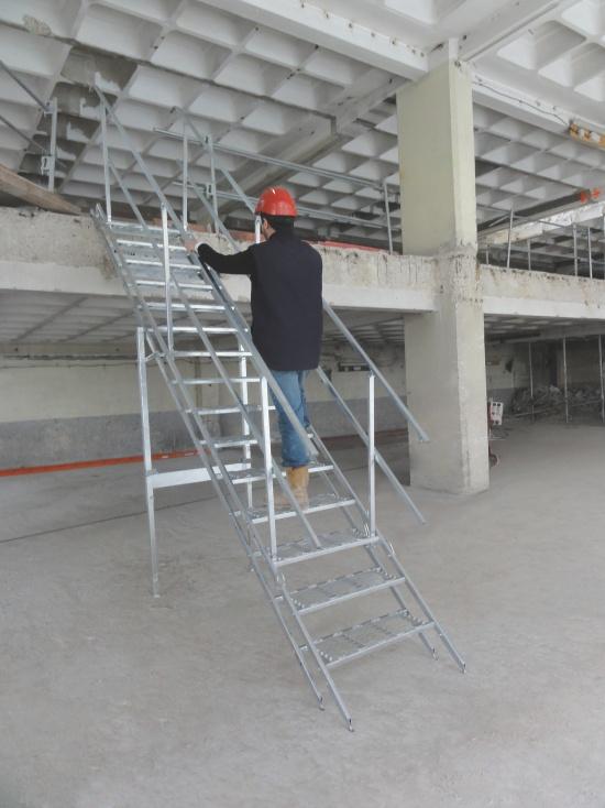 Mobilní ocelové schodiště Safestep