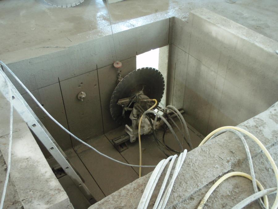 řezání betonu