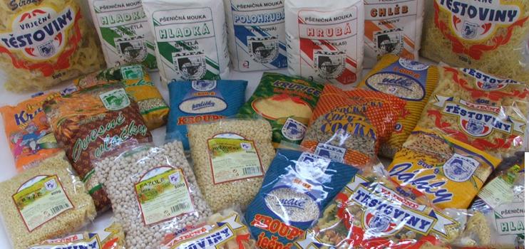 Chlebov� i celozrnn� mouka ze ml�na, lu�t�niny, t�stoviny i dal�� zbo�� dom�c� v�roby