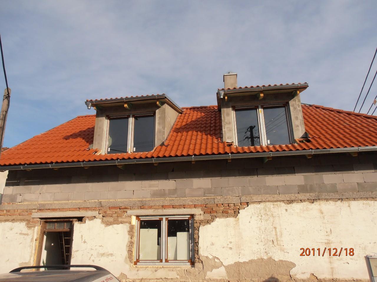 Renova střechy - tesařské, pokrývačské i klempířské práce