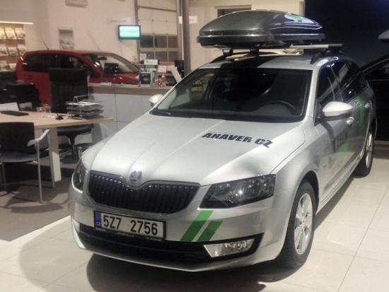Vůz Škoda - sponzorský dar