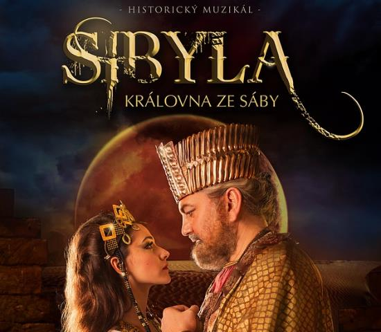 Muzik�l Sibyla, kr�lovna ze S�by - hv�zdn� hereck� obsazen� vy�aduje perfektn� masky
