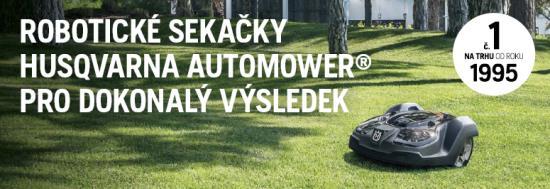 Robotické sekačky se postarají o dokonale upravený trávník
