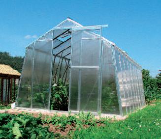 skleníky různých druhů