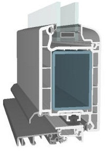 plastové dveře – profily