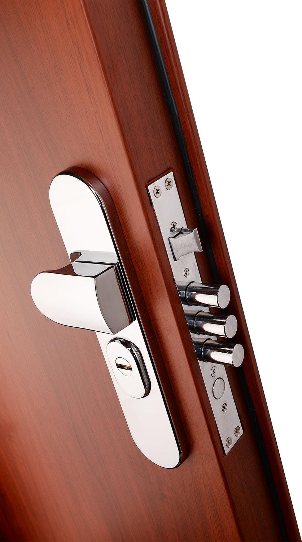 Vícebodový uzamykací systém dveří Securidoors ochrání váš majetek.