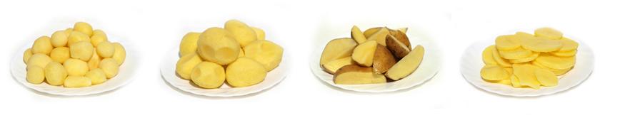 Dodáváme bramborové polotovary pro kuchyně, restaurace i jídelny.