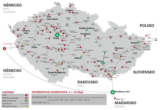 Telekomunikační společnost s významným postavením na českém i zahraničním trhu