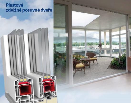 Posuvné, bezbariérové dveře nebo odolná plastová okna