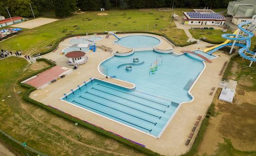 Ochlazení v hlubinné vodě Aquaparku v Ústí nad Orlicí