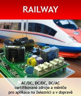 DC měniče, AC/DC zdroje, konektory, kabely, jističe a další komponenty