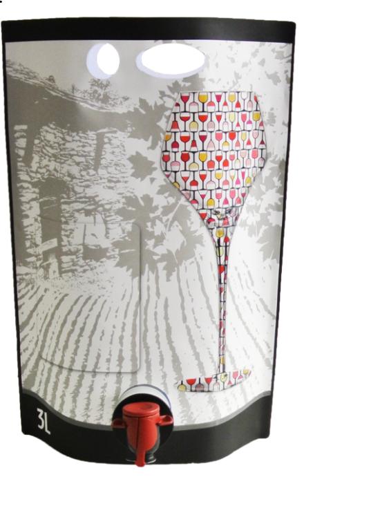 Odnosný vak Pouch-Up® 3 litry - víno