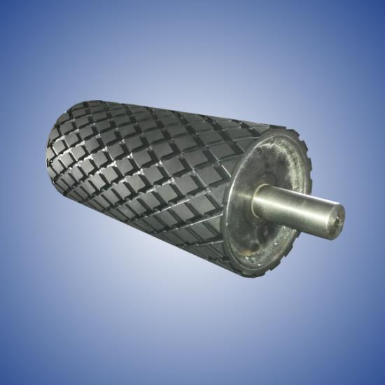 Produkcja rowkowanych rolek gumowych
