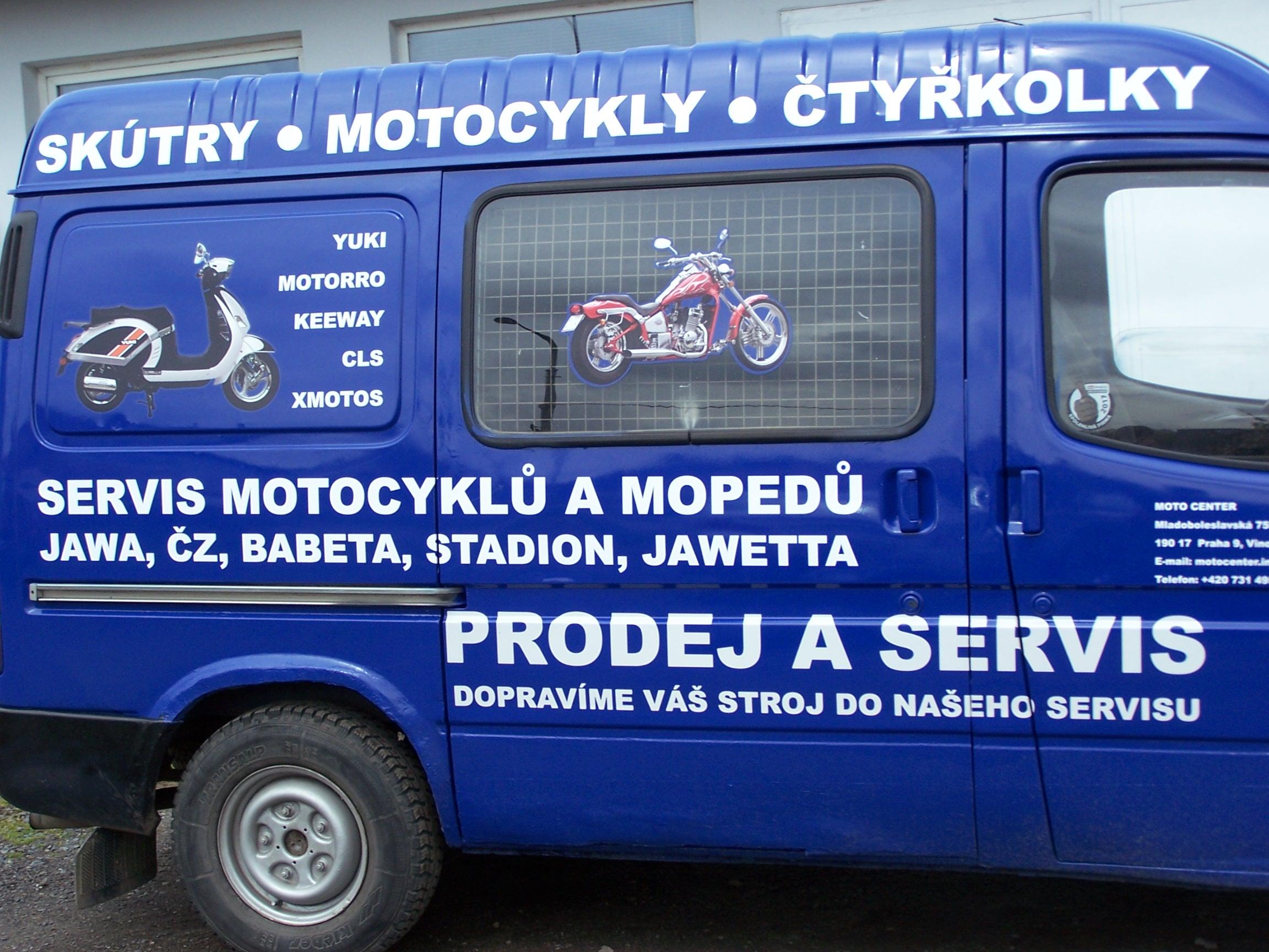 Prodje - skútry, motorky i čtyřkolky, MOTO CENTRUM Praha - Stanislav Klement