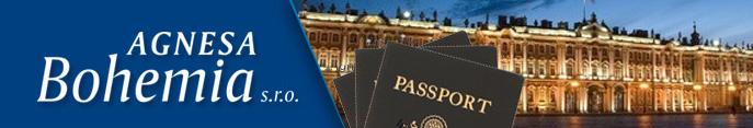Vízum do Ruska i jiných zemí zajistí společnost Agnesa Bohemia