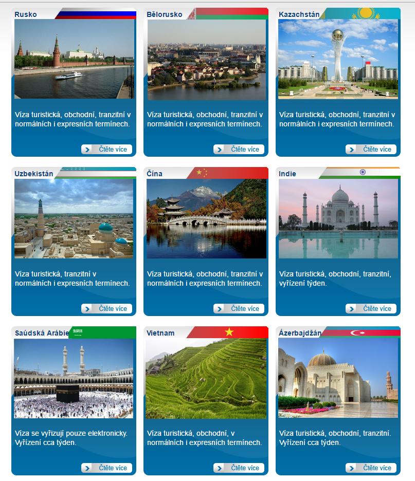 Turistická, obchodní i tranzitní víza do různých zemí vám pomůže zajistit firma Agnesa Bohemia.