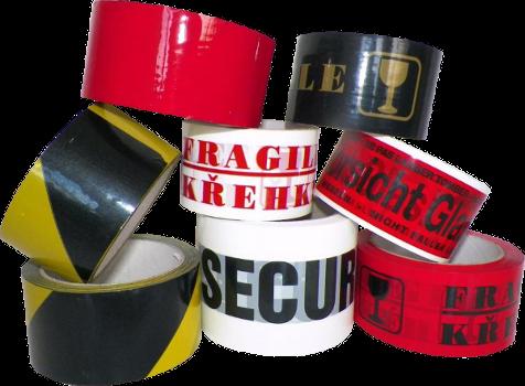 Vývoj, výroba a prodej lepicích pásek pro zabezpečení zásilek i identifikaci