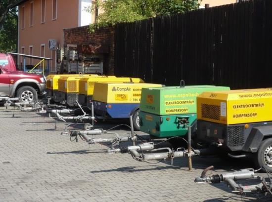 OSPOL TECH Ostrava: půjčovna kompresorů, elektrocentrál a příslušenství
