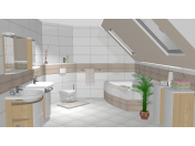 Sanitární výrobky, obklady a dlažby