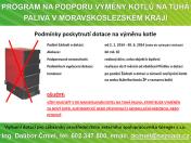 Dotace na výměnu kotlů na tuhá paliva v Moravskoslezském kraji od 2. 1. 2014