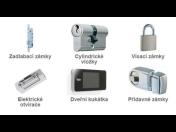 Zadlabávací a vícebodové zámky pro zajištění bezpečnosti