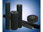 Rubberizing of rollers, wheels and pulleys with higher lifetime