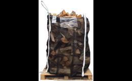 Pytle na dřevo z prodyšné ovíjející síťoviny