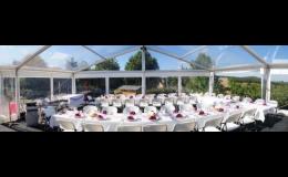Cateringové a party stany pro oslavy, svatby, večírky a další zajistí firma M.P.M.!