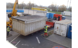 Kontejnery na suť, zeminu i jiné odpady
