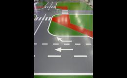 dětské dopravní hřiště - výroba grafiky Dr. Schutz PU Color
