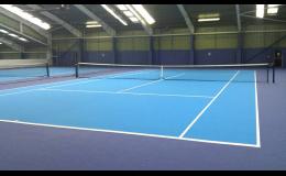 montáž sportovních a nafukovacích přetlakových hal, Forward tenis - sportovní stavby Výstavba sportovišť a tenisových kurtů